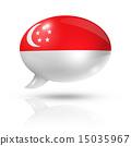 Singapore flag speech bubble 15035967