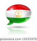 Tajikistan flag speech bubble 15035970