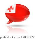 Tonga flag speech bubble 15035972