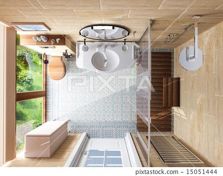 Interior design of  bathroom 15051444