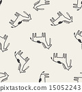 doodle horse seamless pattern background 15052243