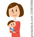 媽媽和寶寶的微笑 15065066