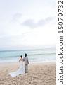 結婚禮服 海景 波浪 15079732