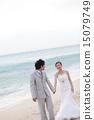 新郎新娘 婚禮 海景 15079749