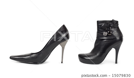 Black Womens Shoes - Isolated on White 15079830