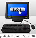 vector keyboard drawing 15080104