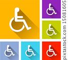 殘疾 輪椅 圖標 15081605