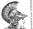 Ancient Greek Warrior Woman 15083069