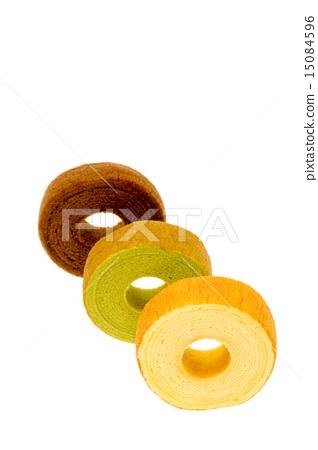 Three types of Baumkuchen 15084596