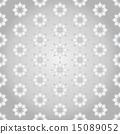 Silver Classic Rhomboid Flower Seamless Pattern 15089052