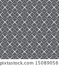 Silver Curve Flower Seamless Pattern in Vintage 15089056