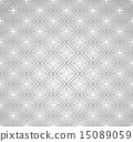 Silver Plus Sign and Rectangle Seamless Pattern 15089059