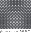 Silver Retro Net Seamless Pattern on Pastel 15089062