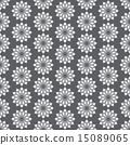 Silver Vintage Jasmine Flower Seamless Pattern 15089065