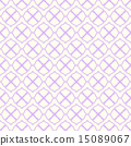 Violet Curve Flower Seamless Pattern in Vintage 15089067