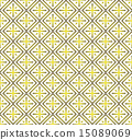 Yellow Plus Sign Rectangle Seamless Pattern 15089069