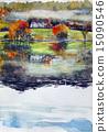 영국 호수 지방 그래 스미어 호수의 스케치 15090546