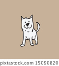 Dog white cartoon 15090820