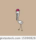 Flamingo cartoon 15090826