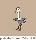 Ostrich cartoon 15090838