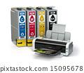 Inkjet CMYK cartridges and printer 15095678