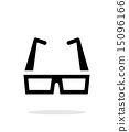 simple, modern, glasses 15096166