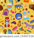 Domestic pets background. Pattern. Seamless 15097336