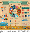 Domestic pets infographic elements, helthcare, vet 15097343