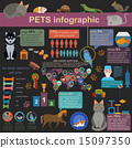 Domestic pets infographic elements, helthcare, vet 15097350