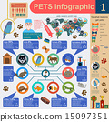 Domestic pets infographic elements, helthcare, vet 15097351