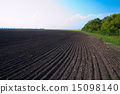 cultivated field after cultivation of land 15098140