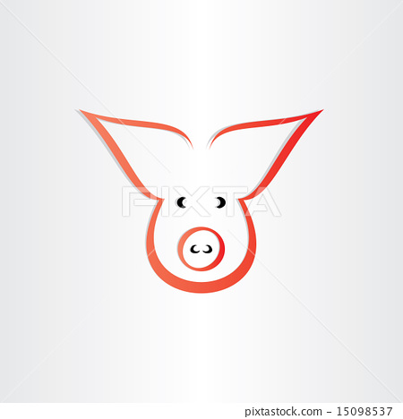 pig symbol pork meat icon design 15098537