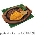 hamburger, steak, cheese 15101078