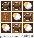 Tic-Tac-Toe of milk and chocolate 15106738