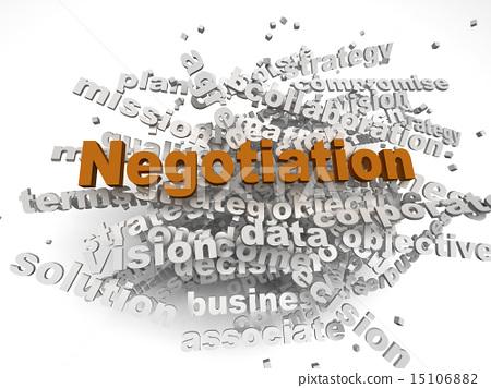 3d image negotiation concept word cloud background 15106882