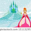 城堡 公主 美麗 15113295