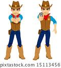 Cowboy Aiming Revolver 15113456