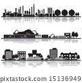 矢量 城市 建築 15136949