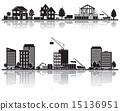 矢量 城市 建築 15136951
