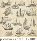 Boats - Hand drawings, Originals 15153005