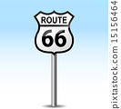 Vector road 66 signpost 15156464