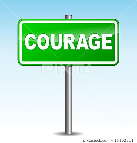 Vector courage signpost 15162311