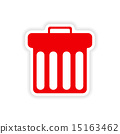 icon sticker realistic design on paper trash 15163462
