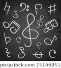 music note icons on black board eps10 15166951