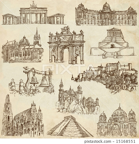 Architecture - hand drawn pack 15168551