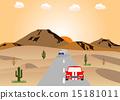 沙漠 日出 矢量 15181011