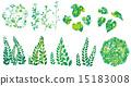 变异削减了闪耀的绿色的例证 15183008