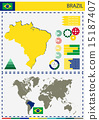 country, vector, brazil 15187407