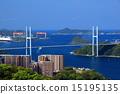 風景 長崎港 女神大橋 15195135