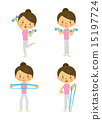 dumbbell, exercises, vector 15197724